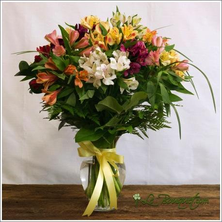 Beautiful fresh Alstroemeria bouquet by Le Bouquet
