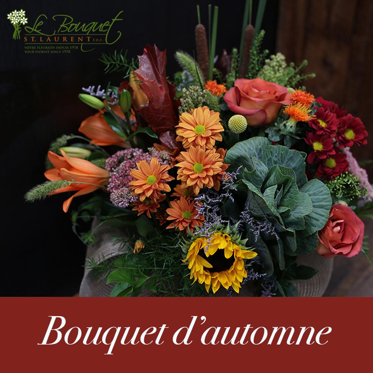 bouquet d 39 automne fleuriste le bouquet st laurent. Black Bedroom Furniture Sets. Home Design Ideas