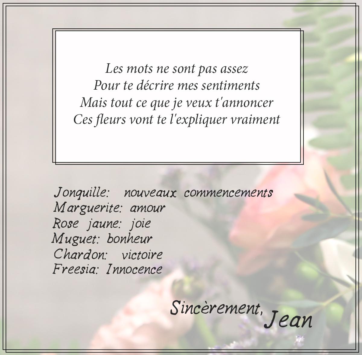 floral expression card sample