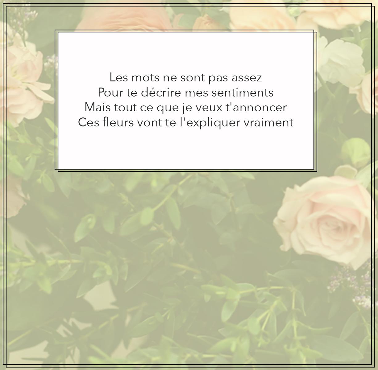 free floral expression card jaune par Le Bouquet
