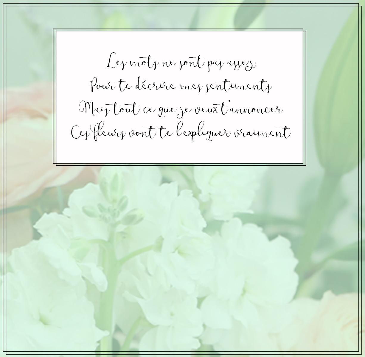 free floral expression card vert par Le Bouquet