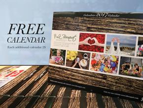 January promo free calandar Le Bouquet