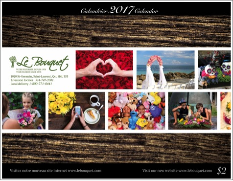 2017 calendary by Le Bouquet - free copy