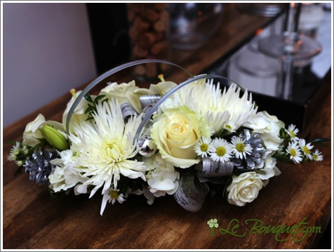 New Year's Centerpiece bouquet in deluxe by Le Bouquet