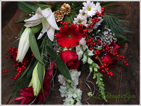 Mixed Holiday bouquet cut fresh from Le Bouquet