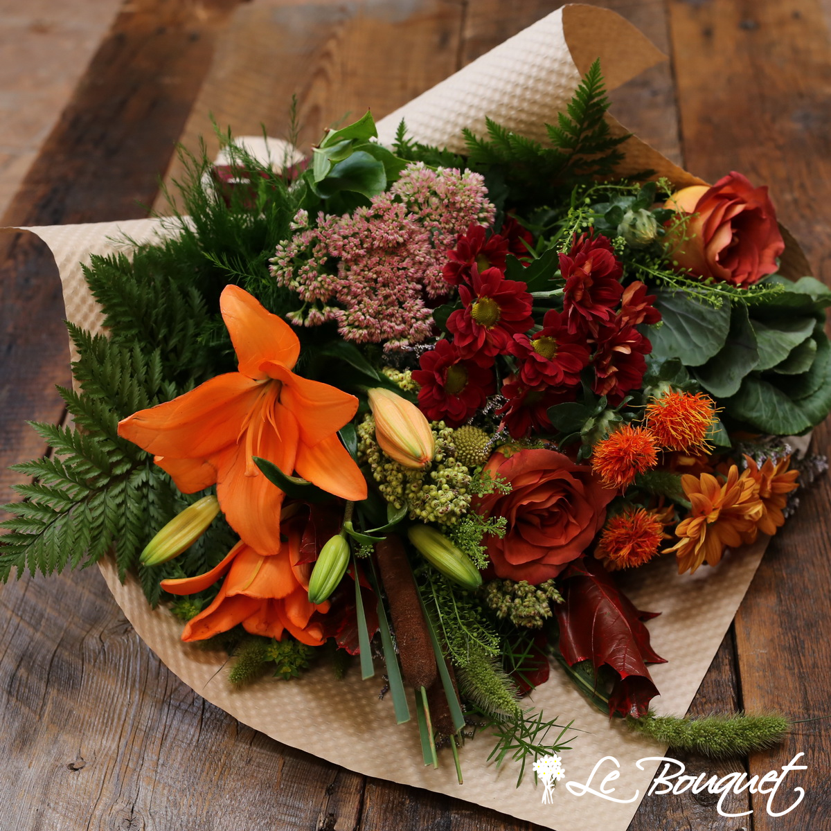 fall bouquet in premium eco wrap