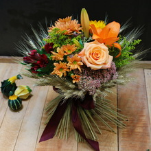 Blooming Sheaf Fall Arrangement at Le Bouquet