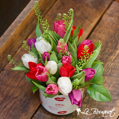Assorted tulips for Valentine's Day