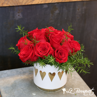 Lush Life Valentine's Day arrangement from Le Bouquet